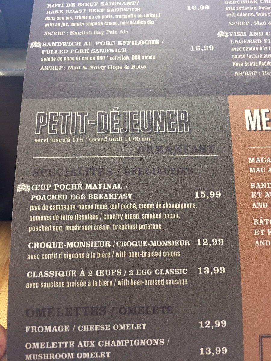 Deux œufs saucisse à $14 = oui je suis bien à l'aéroport de Montréal...
