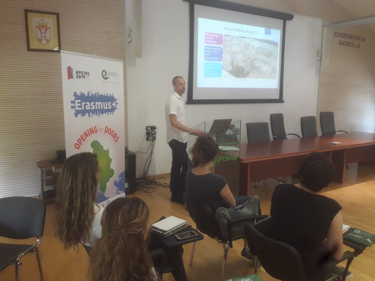 test Twitter Media - Andrej Troha from #SaltoSEE presenting posobilities for #youth from #WestBalkan in @EUErasmusPlus program #FruskaGora @InzenjeriZZS @opens2019 https://t.co/Ap10KZbY7t