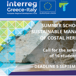 """📣 Call for the selection of 16 students👩🏾🎓👨🏻🎓👨🏻🎓(8 Italian and 8 Greek) for the summer school ☀️☀️ on """"Sustainable management of coastal heritage""""🌊🌊 ⏰Deadline 05 september 2019 👉 Download the documents https://t.co/bjCzvvCcJq"""