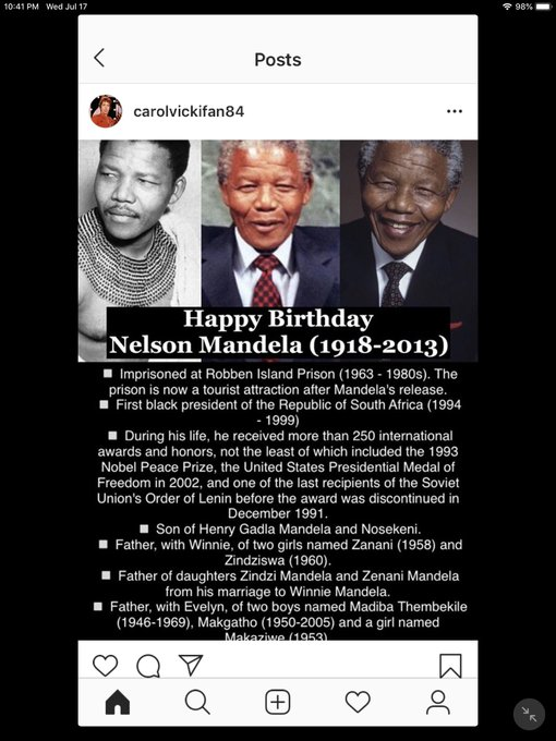 Happy Birthday! Nelson Mandela, Vin Diesel, Kristen Bell and James Brolin!