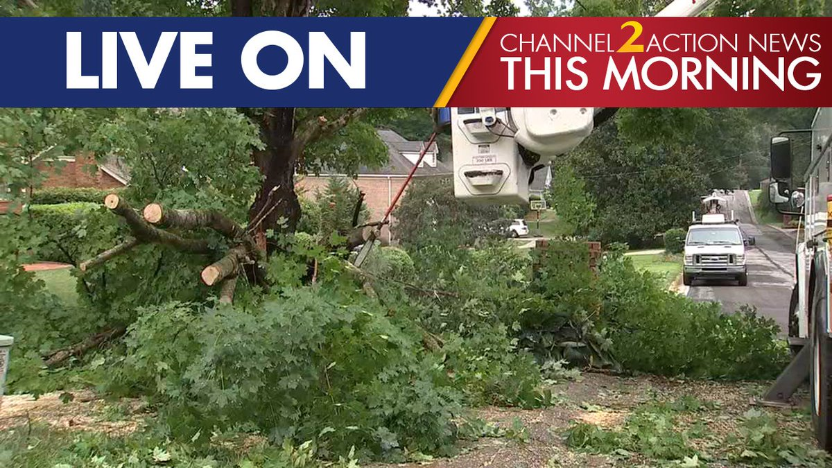 Severe storms down trees, power lines across metro; more expected today 2wsb.tv/2JQcxTt LIVE at 4:45 a.m.: @KHollowayWSB has a closer look at the damage.