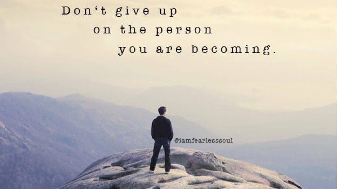Persist on the Journey, Believe in the Dream. Eliminate the tendency to self destruct. #ThursdayMotivation #Wellness #ThursdayThoughts #Believe
