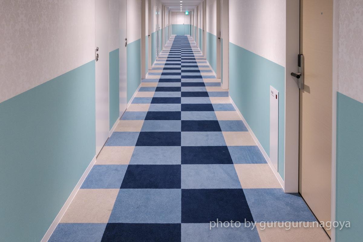 ビジネスホテルとは思えない😍 青と白、統一感のあるデザイン… 名古屋で泊まったホテルが可愛すぎたから見て!!