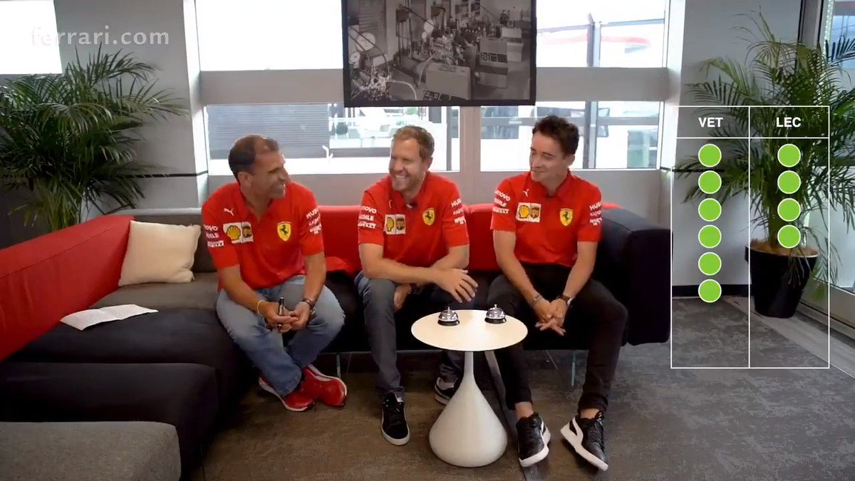 DAY 18 | That 'Bell Challenge' 🔔  🙈😂  Full link for those of you missed it ➡️ https://t.co/rck0ywGEUq  #essereFerrari 🔴 #SFYearInReview