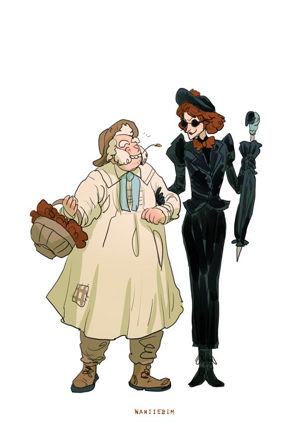 Team Nanny and the Gardener  Nanny Ashtoreth and Brother Francis....  #goodomens  <br>http://pic.twitter.com/RLT2480aQb