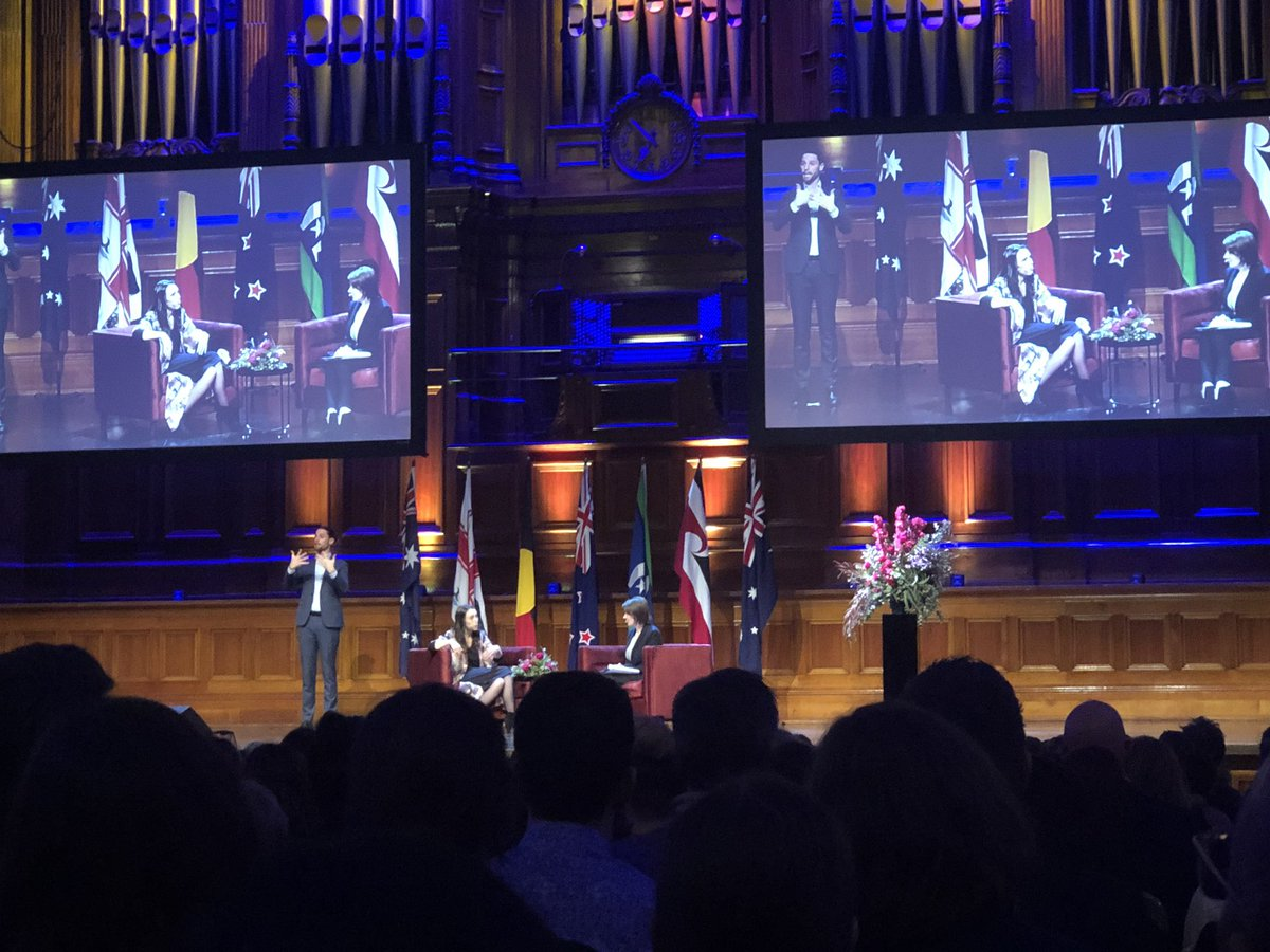 Virginia: Is there a feminine way of holding power?  Jacinda: Err...well there's a human way of holding power.   Re: leadership after Christchurch attacks #TheArdernAddress<br>http://pic.twitter.com/nhxYtWTxaw