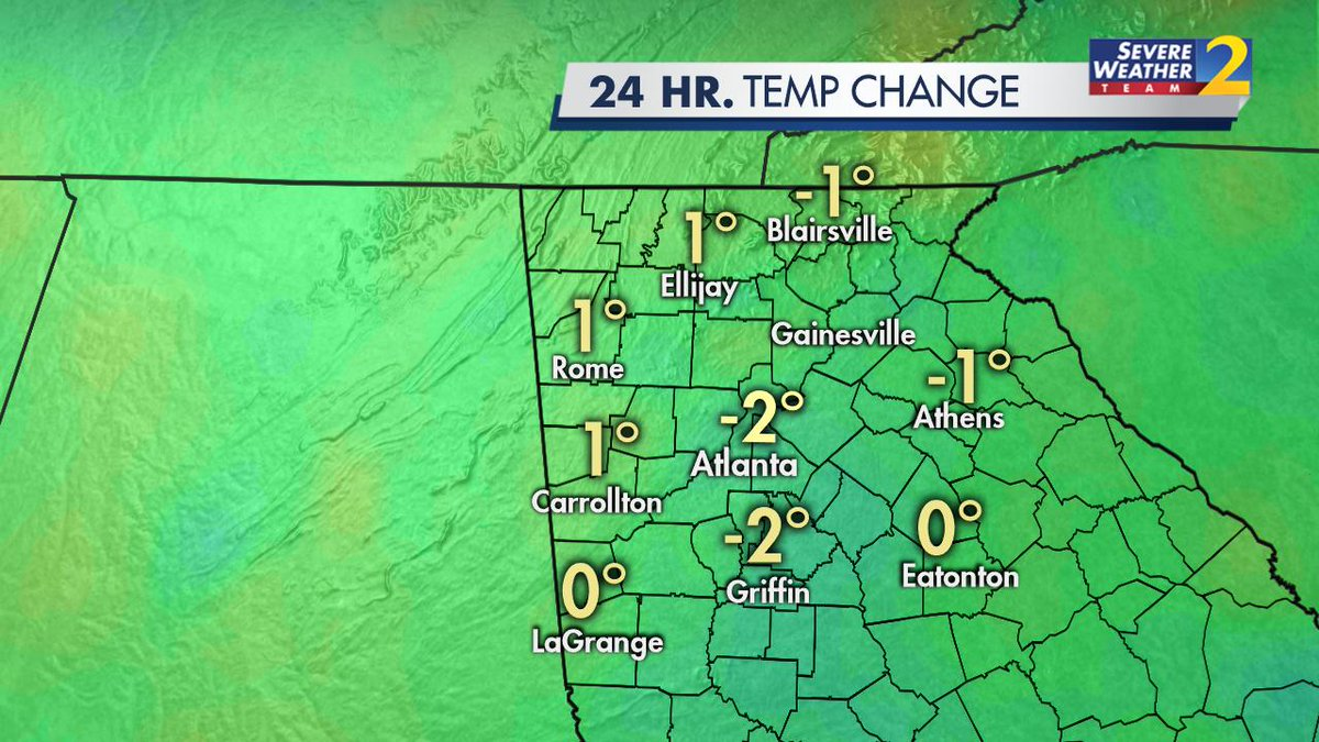 Temps are just a little cooler this morning after some of the downpours yesterday. Its still going to be hot this afternoon! Updating the forecast all morning long on Channel 2. @wsbtv