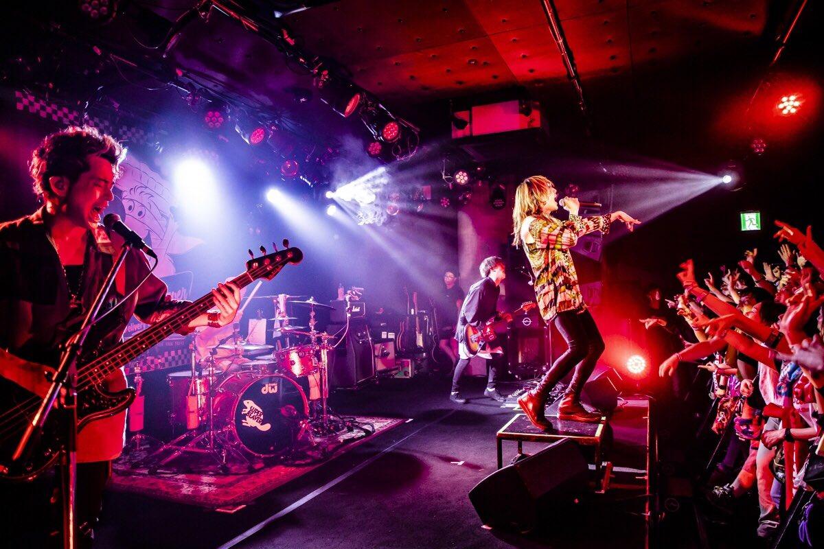 松山Wstudio REDw)ハルカミライ超楽しかったなあ!ライブハウス最高だ!ハルカミライもすげえ最高だ!また帰ってくるよ!本当にありがとねっphoto by @cazrowAoki #ラクダチェリーパイ