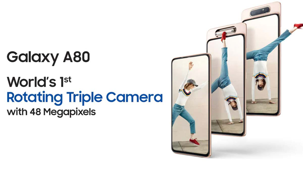 Galaxy A80 india,launch,price,features