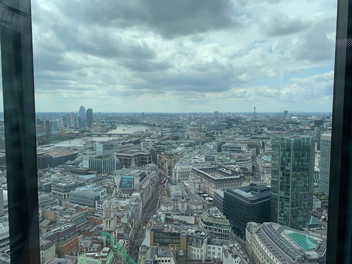Filming in the Leadenhall Building today, amazing views over #London.