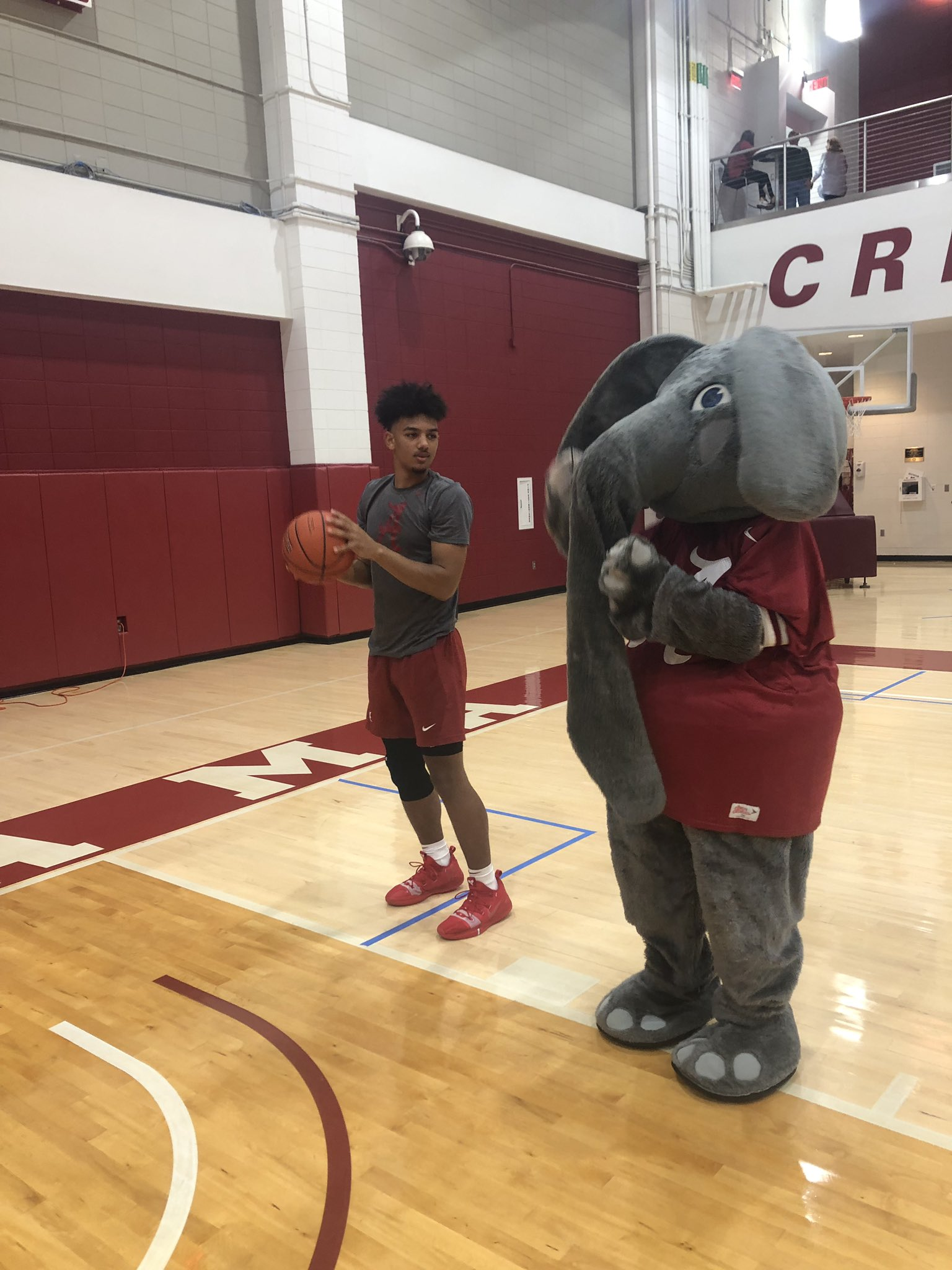 Alabama Crimson Tide NCAA Basketball: Thanks to @UA_Big_Al for coming by our camp to take some photos and coach our guys up�...