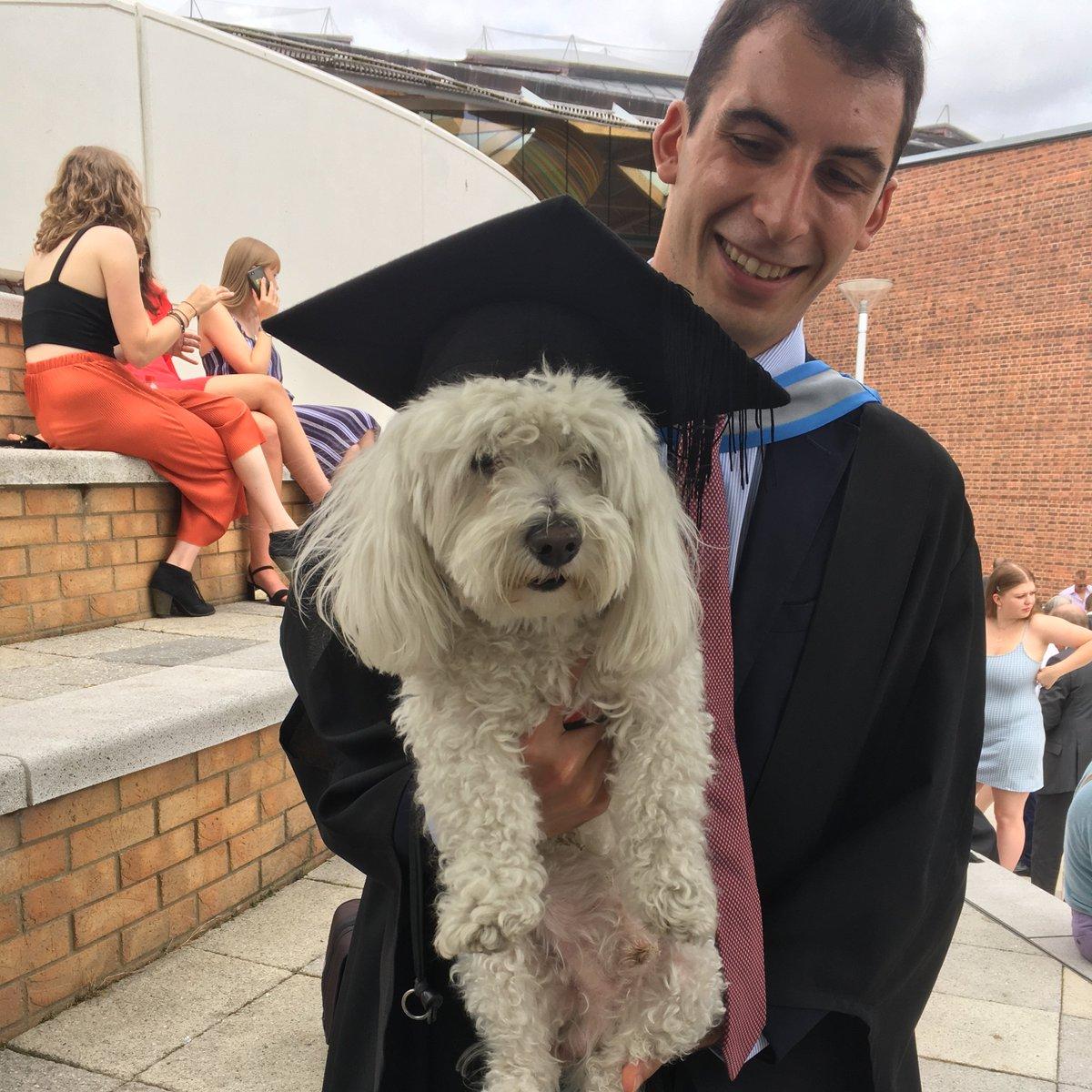 We found another proud doggo today #dogsatgraduation
