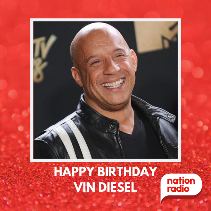 Happy Birthday Vin Diesel, he\s 52 today!