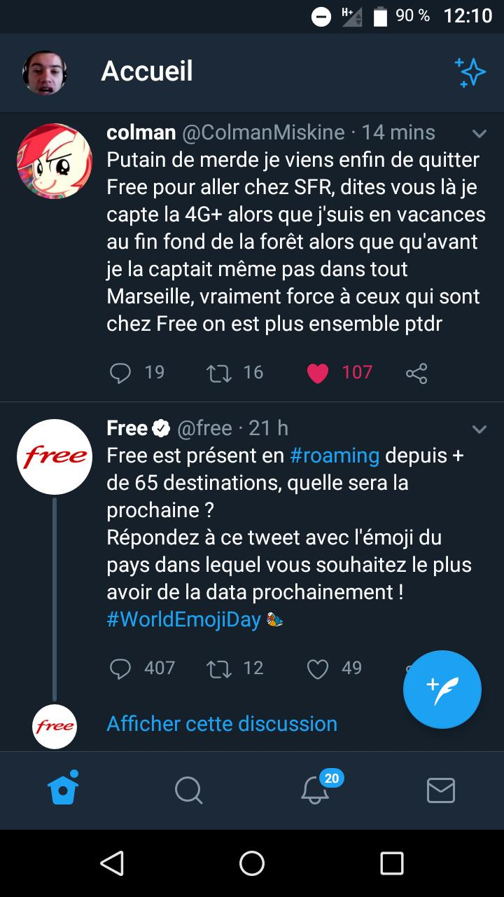 je capte plus la 4g free