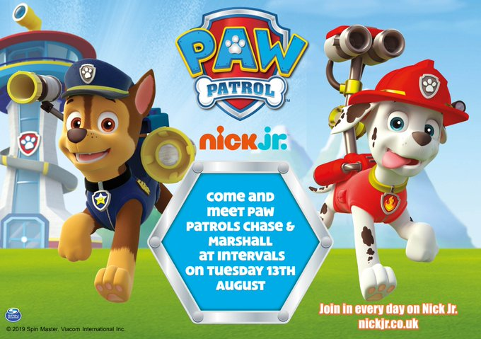 This Summer Holiday enjoy ALL our fun children's rides AND on TUESDAY 13th AUGUST come and meet PAW PATROL'S CHASE & MARSHALL! Cameras at the ready! #PawPatrol #schoolholidays @pawpatrol @KMWhatsOn @kentlivewhatson https://t.co/iEfzfLqMjL @KSCo...