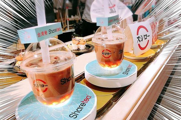 スシローからついにタピオカが登場です!・台湾の人気タピオカ店とコラボ・日本向けに改良されたもちもちゴールデンタピオカ・お値段なんと280円(税抜)!!!明日7月19日からスタートです!!!