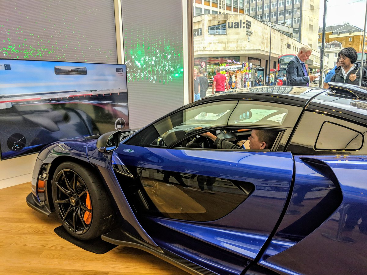 Driving the McLaren Simulation at @MicrosoftStore This Car is worth £1.8 Million Pounds 🤯#Microsoftldn
