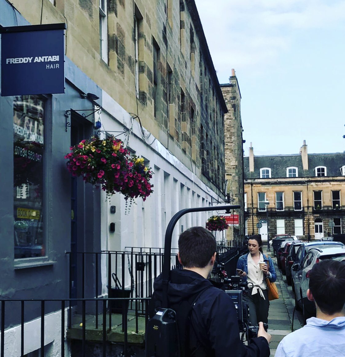 There was some filming taking place in William Street this morning. 🎥 We've heard from our friends at @hightidemedia it's something exciting for @edfringe 🎉 . . . #edinburghswestend #edinburghwows #edinburgh #thisisedinburgh #hiddengems #takeacloserlook