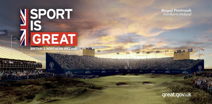 Broadcast in over 150 countries, #TheOpen is the oldest major golf tournament in the world. The 148th Open kicks off today at #RoyalPortrush, making a historic return to Northern Ireland for the first time in 68 years. #SportIsGREAT ⛳️🇬🇧