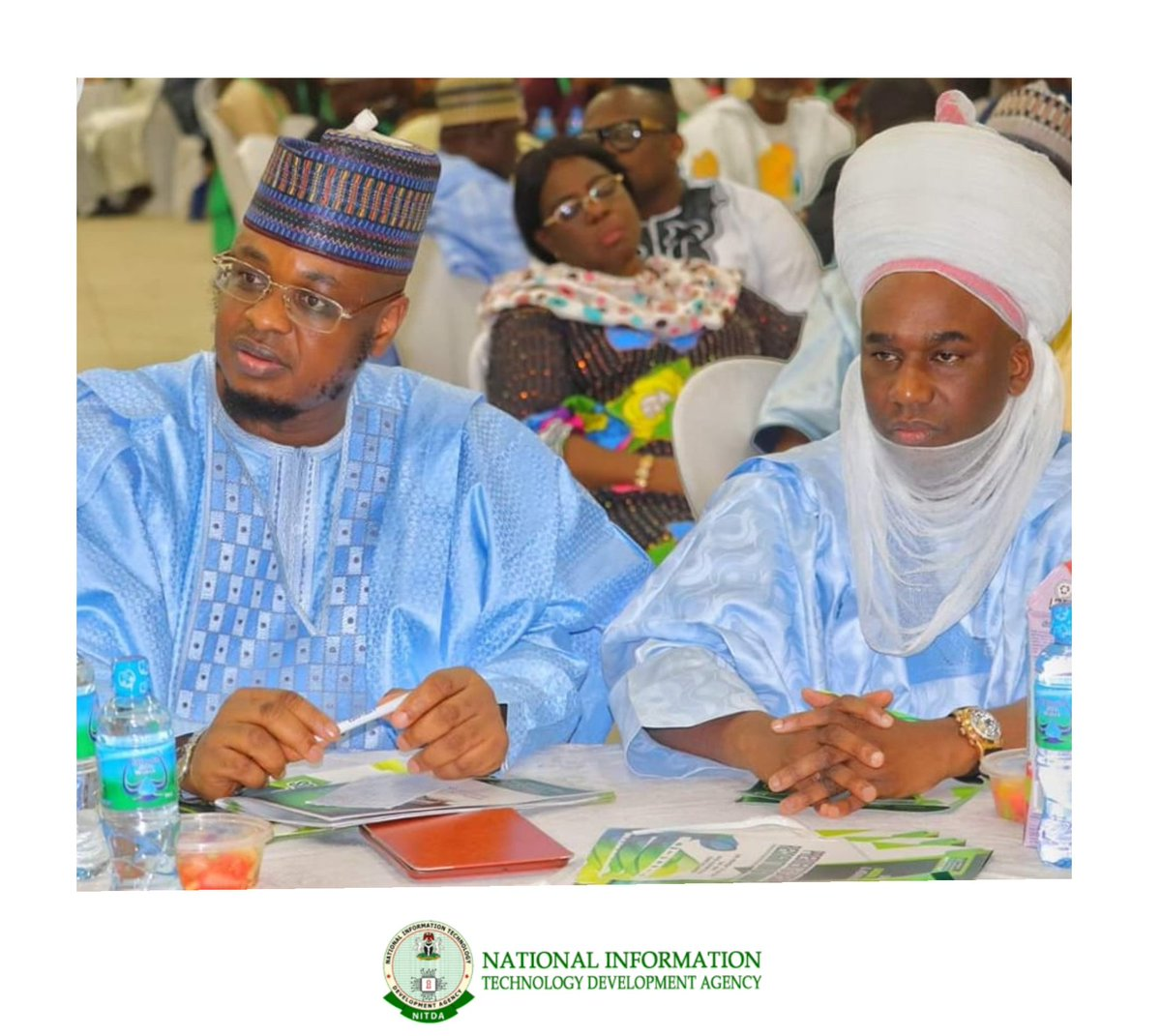 The Chief Information Technology Officer of Nigeria, @DrIsaPantami, with the Emir of Gombe, HRH Alh Abubakar Shehu-Abubakar during the @NigeriaComputer Presidents Special Recognition and Awards part of activities of #NCSGombe2019 taking place at Gombe State University, Gombe.