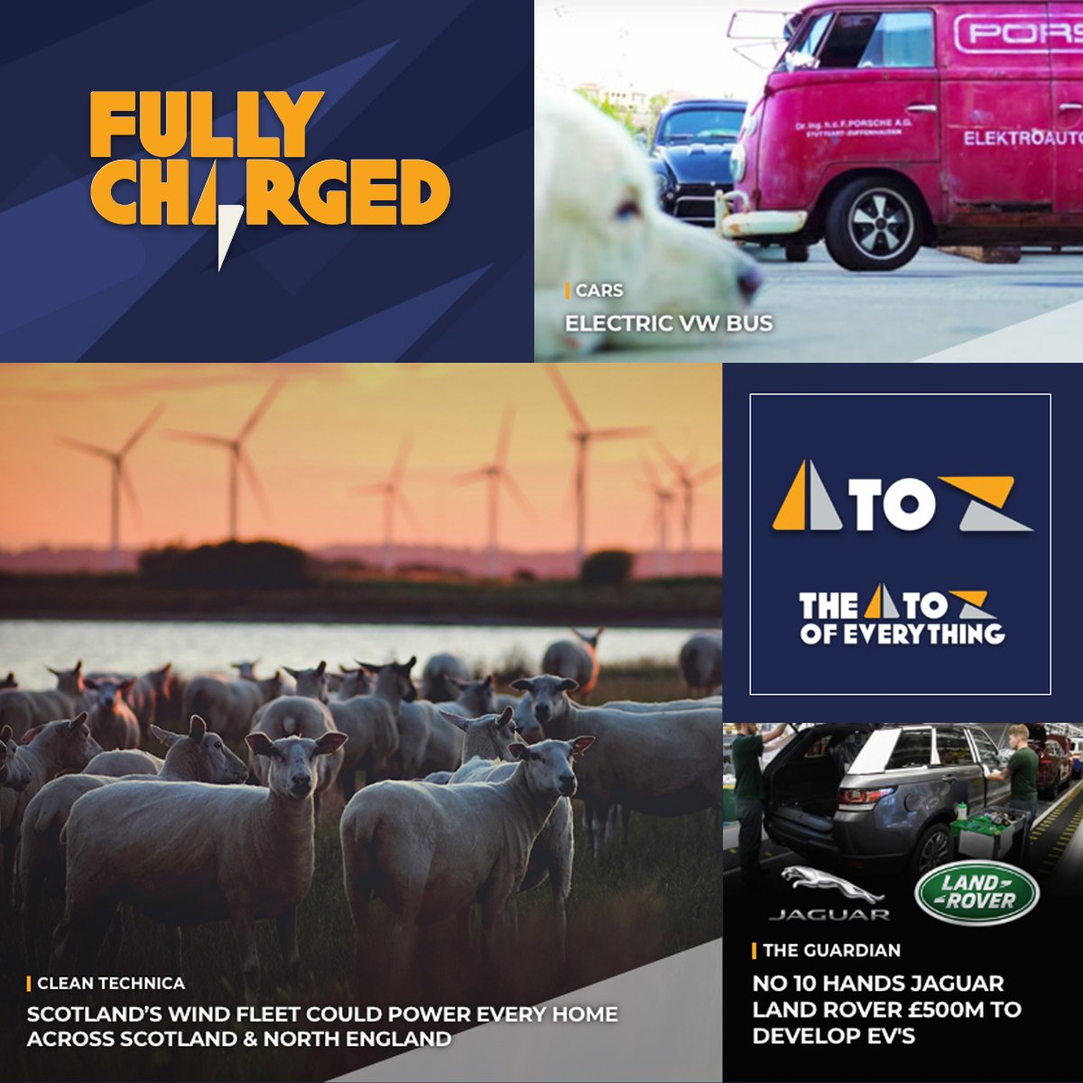 Over on http://FullyCharged.Show ... - Scottish renewable success continues - Converted electric VW bus review with Jonny  - No.10 hands Jaguar £500m for EV drive And much more besides! Bookmark it today!