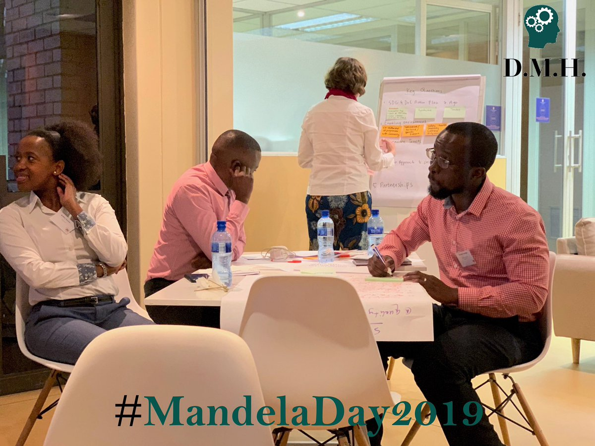 DMH joined a Think Tank that sought to develop an educational program for girls in the Community of Diepsloot. The Mental Health of Families and Learners is a key tenant of impactful educational interventions. #nelsonmandeladay2019 #MandelaDay #madibaday #67minutes