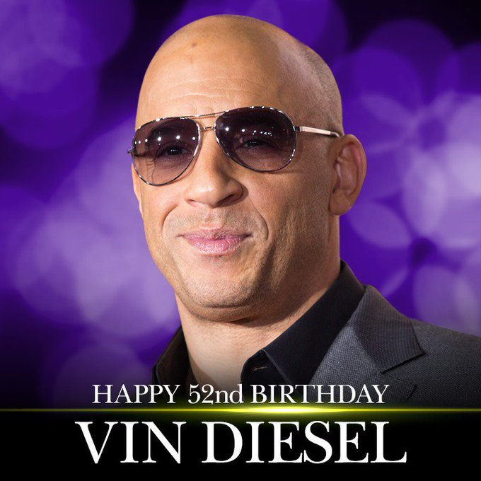Happy 52nd Birthday to Vin Diesel! More entertainment news: