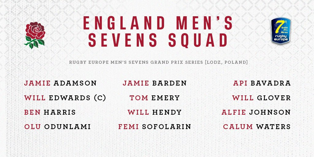 test Twitter Media - Your England Men's Sevens squad for this weekend's #Lodz7s 🌹  ➡ https://t.co/RQMzPU2XjS https://t.co/sGF8c6hk5W