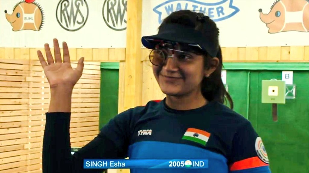 Congratulations to 14 year old Esha Singh for winning a silver medal in 10m Air Pistol at the ISSF Jr. World Cup! Esha is a Khelo India talent and it feels good when youngsters prosper at the global stage.