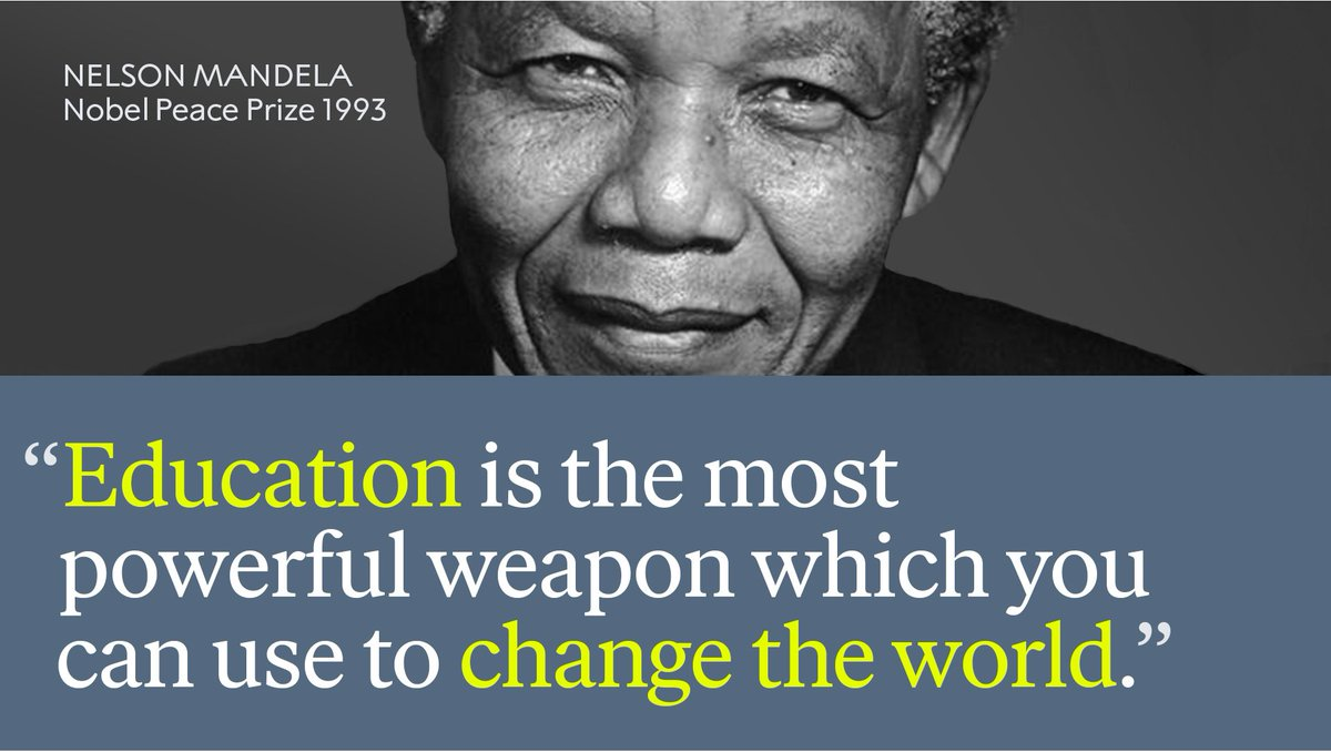 We remember a wise man, Nelson Mandela, on what would have been his 101st birthday.  Learn more about Nelson Mandela: https://bit.ly/2WFXLrW  #MandelaDay
