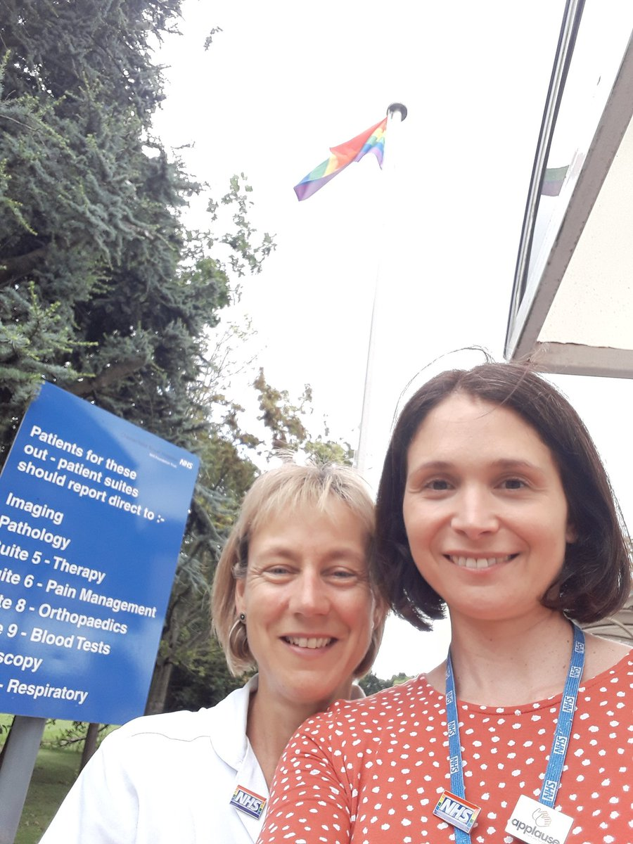 Delighted to raise our Rainbow flag with Sarah, our Staff Side Chair, @royalhospital today! Thank you if you've already pledged to wear a Rainbow badge, we've had an amazing response in the first few days #inclusion #TeamCRH 🏳️🌈
