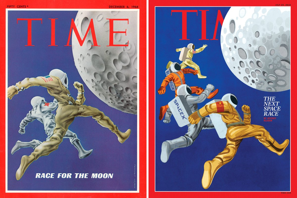 50 years after the first moon landing: TIME's new cover takes on the dueling superpowers and rival billionaires racing in space http://mag.time.com/X9eAxmf