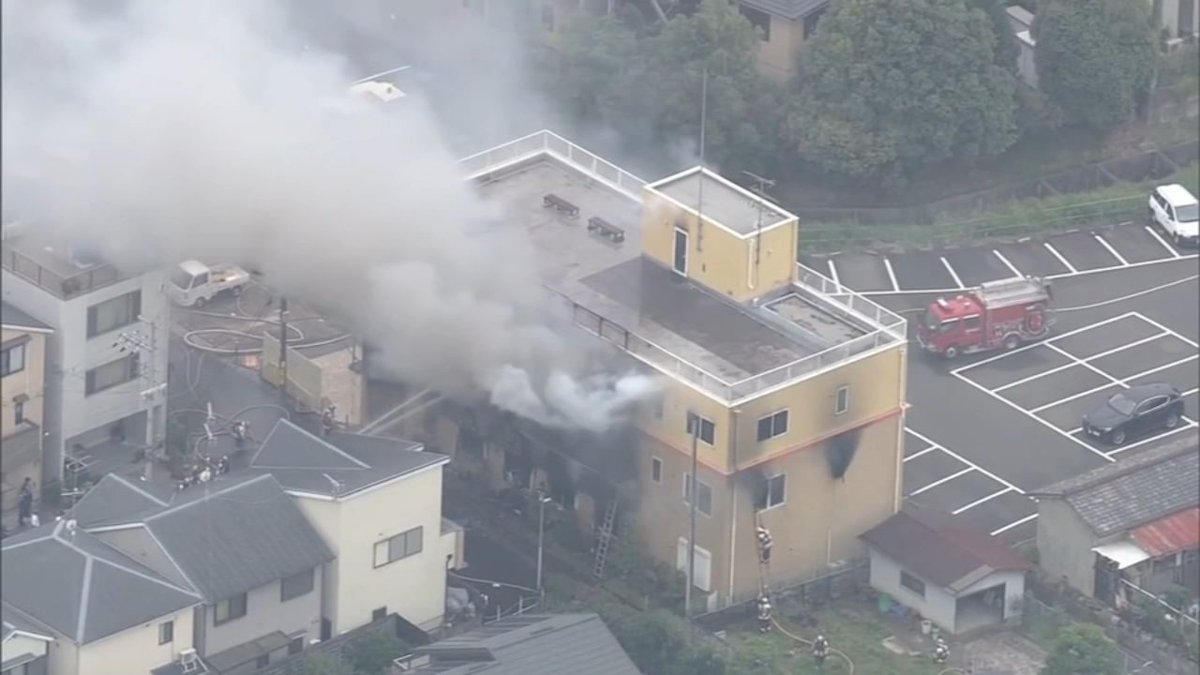 "#BREAKING At least 26 people killed, 36 others injured after man screaming ""You die!"" bursts into animation production studio in Kyoto, Japan, and sets it on fire, authorities say https://t.co/ECJa4QdSly https://t.co/yXntTQV6dW"