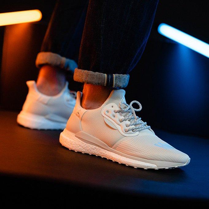 adidas x Pharrell Williams Solar Hu Proud Sneaker in Cream