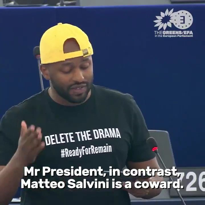 Our MEP @MagicMagid has a clear message to #Salvini and his supporters: The future of Europe will be defined by courage or cowardice. And cowards like Matteo Salvini will be on the losing side. Those who have courage in their hearts will win. #refugees #migration