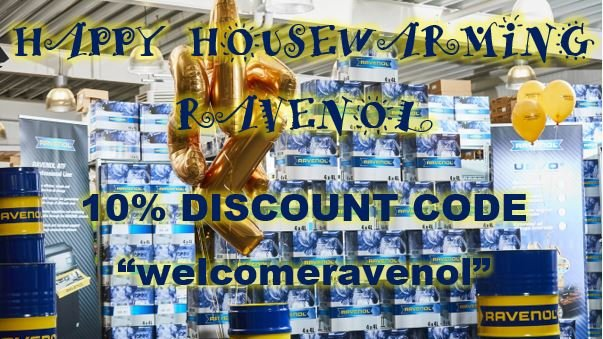 """Don't forget to take advantage of our new warehouse #HousewarmingParty #specialoffer - both new and existing #RAVENOL customers can get #10percentoff their next order until the end of July - just use #discountcode """"welcomeravenol"""" in the box in the basket."""