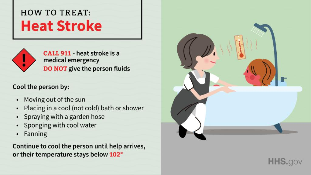 Heat stroke is a medical emergency. If you see someone suffering from heat stroke, these steps can help save their life.  http:// bit.ly/2XQ6MiE     #ThursdayThoughts #ThursdayMotivation<br>http://pic.twitter.com/sBweltTDeM