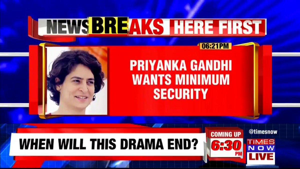 #Breaking   Ahead of her UP visit, Congress' @priyankagandhi writes to @myogiadityanath Govt seeking minimum security. Writing to UP CM Yogi Adityanath, Priyanka Gandhi Vadra said, 'People shouldn't be inconvenienced.'   @isamiakapoor with details.
