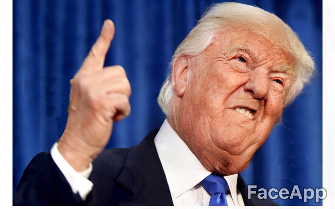Four more years?? @POTUS @realDonaldTrump - surely loose the toupee before then. 😂😂 #faceapp #trump #russia #donaldtrump #cnn #foxnews #fakenews