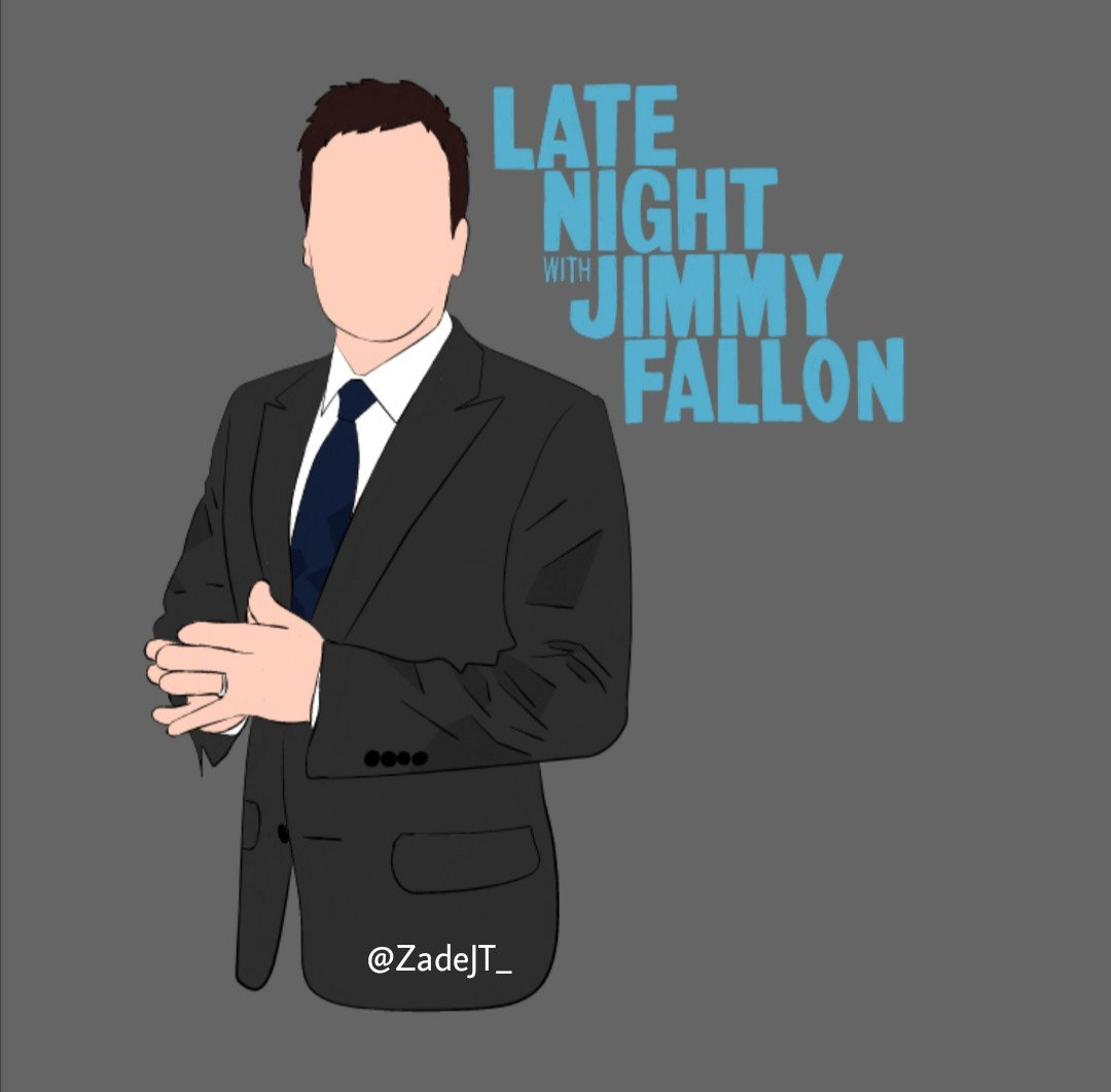 """"""" Late Night With Jimmy Fallon """" • • #VectorArt • • @jimmyfallon  • • This Is My Real Art !!! • • Enjoy :)<br>http://pic.twitter.com/BZT0m0ENsQ"""