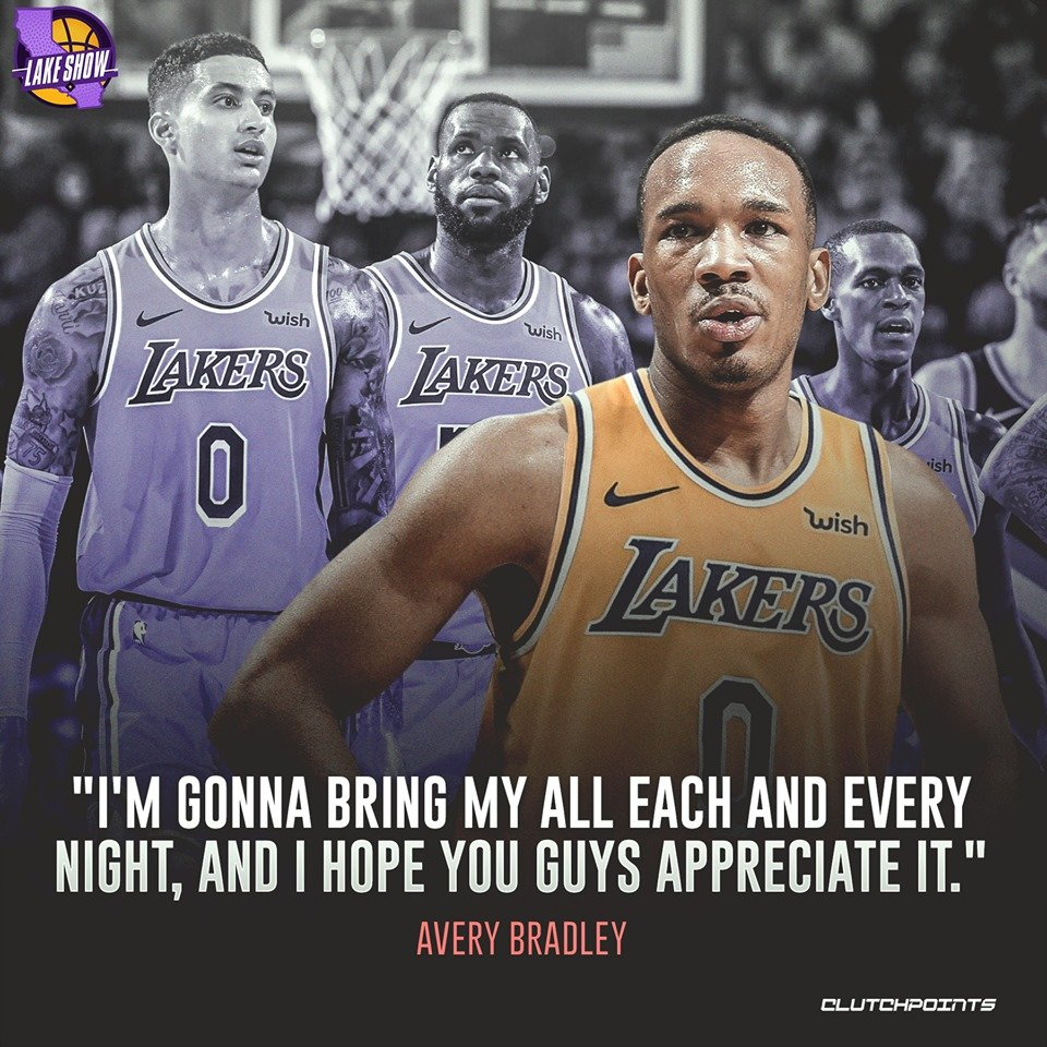 You're not dreaming.  The #Lakers have not just one but two of the NBA's better lockdown defenders in Danny Green and Avery Bradley.   #LakeShow #NBA #NBATwitter