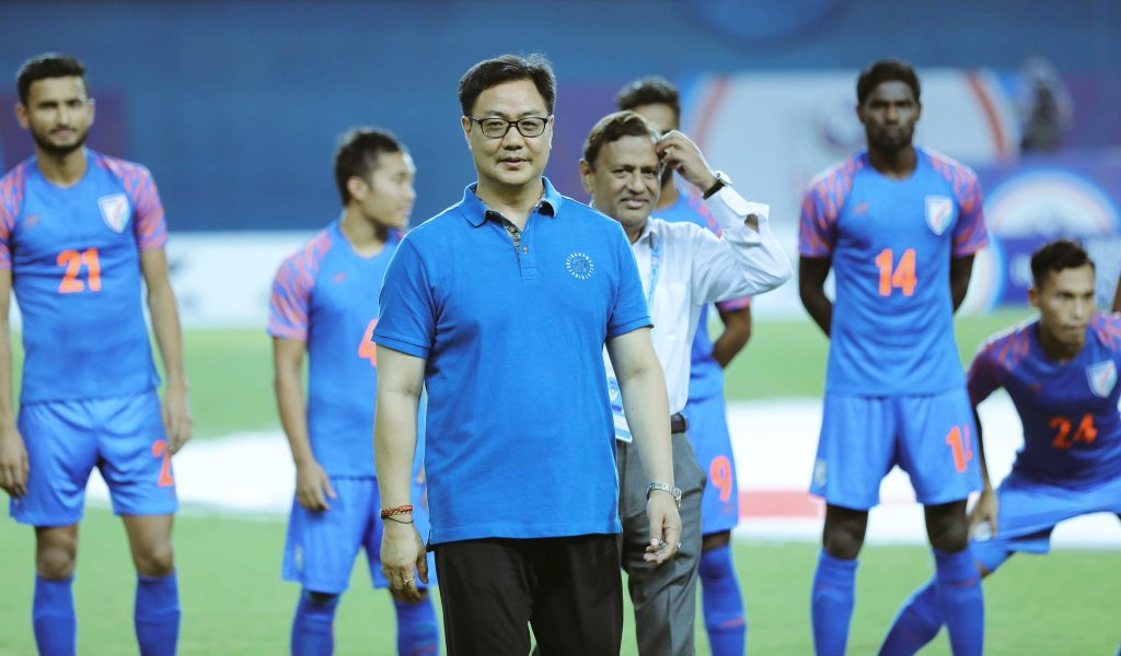 I could see huge potentials in our @IndianFootball and Ministry of Sports will provide necessary assistance to the #IndianFotball⚽️ wherever possible. #BackTheBlue 💙