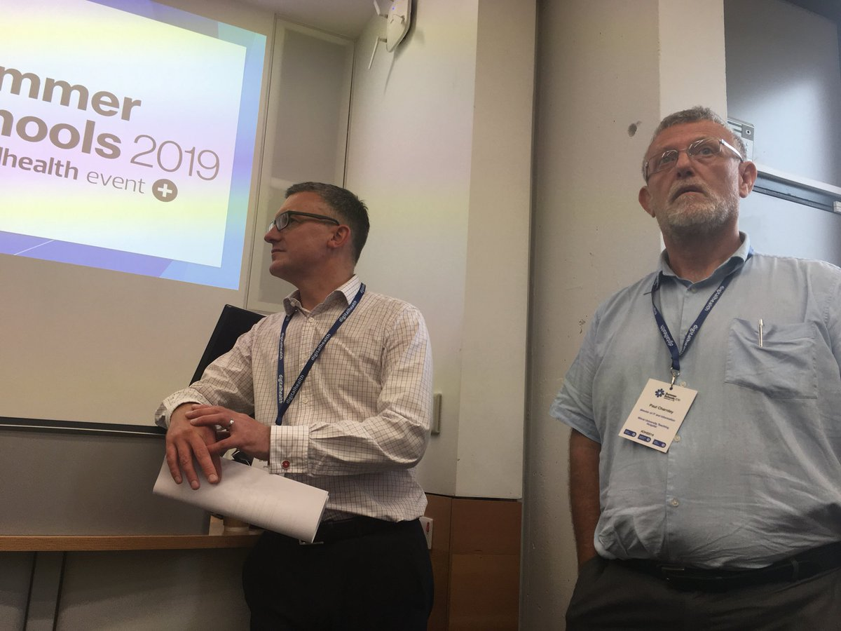 A massive thank you to our  brilliant CoChairs Paul Charnley Gareth Thomas for the very skilled management of this hugely enthusiastic audience ! #gdeblueprints #nhsx #DHSS19