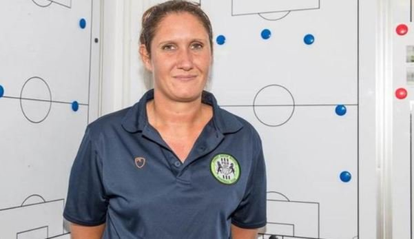 Hannah Dingley has become the first woman to manage a club academy in English men's professional football. Full story ➡https://bbc.in/2XVdYVL #bbcfootball #ChangeTheGame