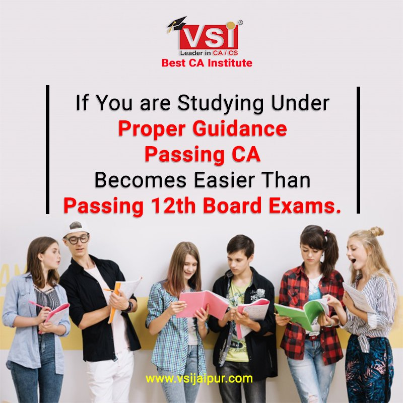 """#Do You know? """"If you are studying under proper guidance, Passing CA becomes easier than passing 12th Board exams""""  #ICAI #CApreparation #CAexams #CAexamtip #CharteredAccountant #CAcoaching #VSI"""