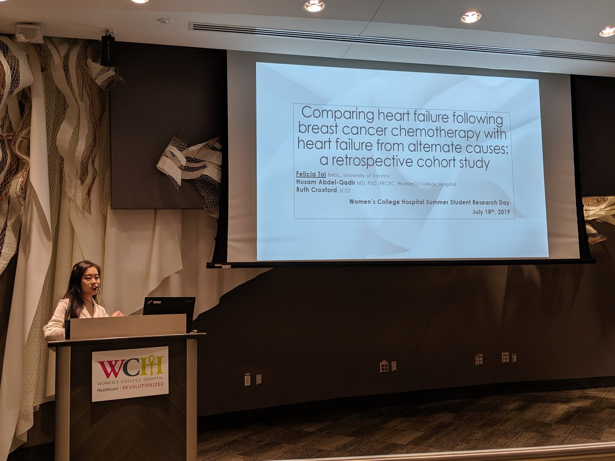 Felicia discusses her summer research project on the comparison of heart failure outcomes in early stage breast #cancer and cancer-free women. #OnHealth