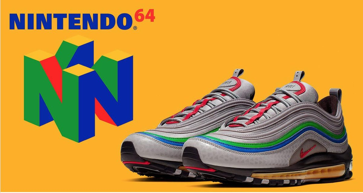 Loving the new @NintendoUK Switch Lite, nearly as much as we're loving #Nike #Airmax97 #N64 partnership. 😍👟🕹