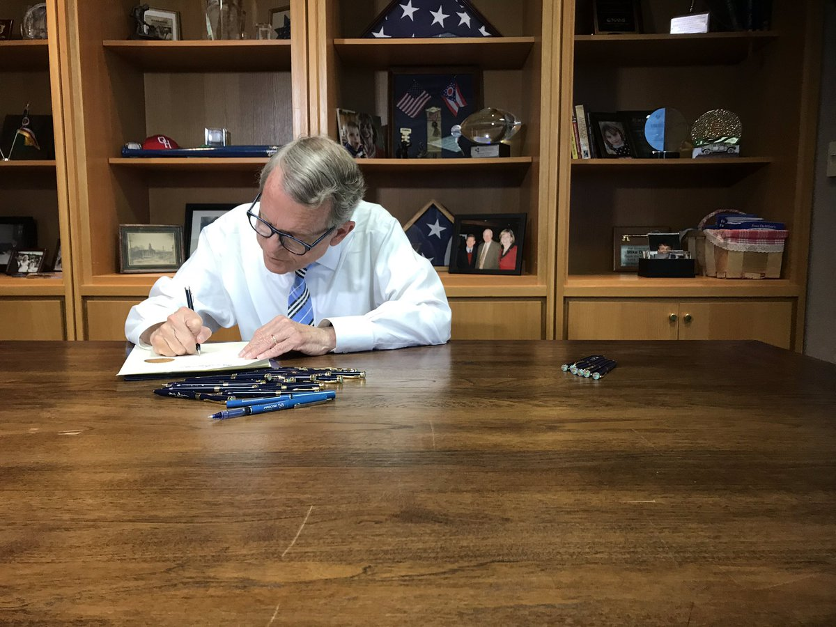 Moments ago, I signed the #OHBudget, which lays the groundwork for a better #Ohio for future generations and makes unprecedented investments in children, families, workers, recovery, education, and more. My team is compiling the final details and will release more info soon.