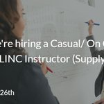 Image for the Tweet beginning: We're hiring a Casual/ On