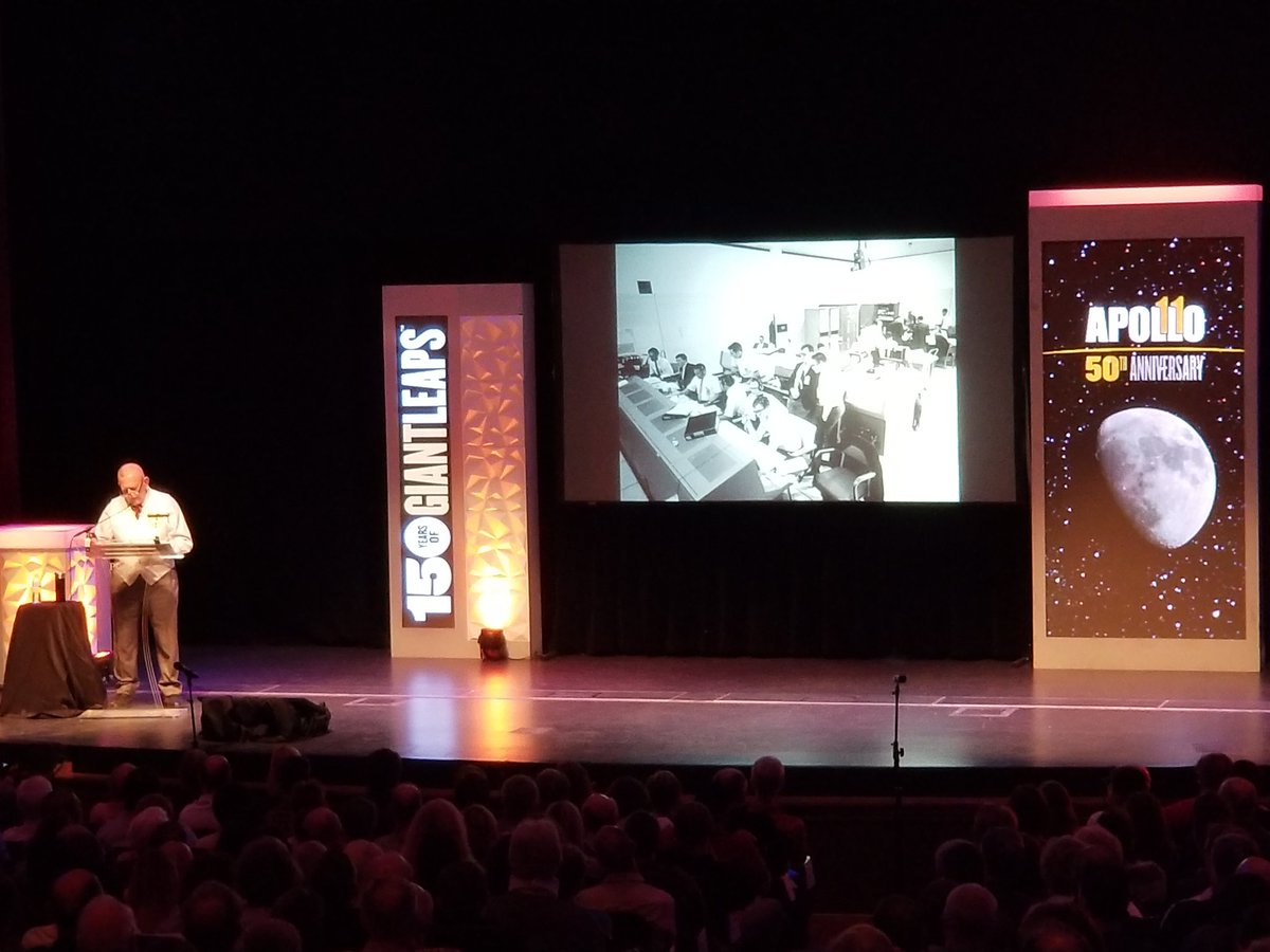 Gene Kranz, Apollo 11 flight director, speaks to a sold out crowd at Purdue. #Apollo50th #TakeGiantLeaps #Purdue150